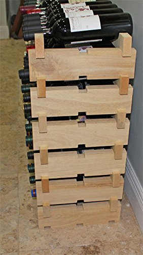 Stackable Wine Rack Storage 144 Bottles Cellar Display Shelves