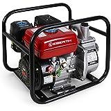 """EBERTH 2"""" Pompe à eau thermique (30.000 l/h, 5,5 CV Moteur à essence, Connection 2 Pouces, 30m Hauteur de refoulement, 7m Hauteur d'aspiration)"""