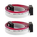Cable Cinta eDealMax IDC Socket 10 clavijas Planas, 10 DE alambre, 50 cm de longitud, 2 piezas