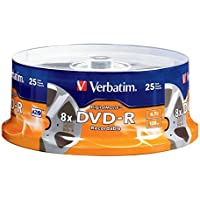 VERBATIM 25PK DVD-R 8X 4.7GB DIGITALMOVIE SPINDLE / 94866 /