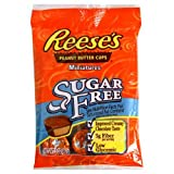 Hersheys Reese Sugar Free Peanut Butter Cups, 3-Ounce (Pack of 6)