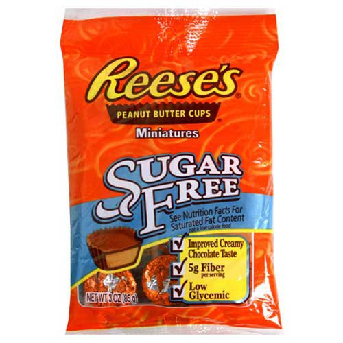 Hersheys Reese Sugar Free Peanut Butter Cups, 3-Ounce