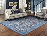 Luxury Distressed Blue Area Rugs for Living Room 5×7 Clearance Rugs for Bedroom 5×8 For Sale