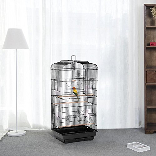 Yaheetech 36'' Metal Bird Cage Parrot Finch Cage Macaw Cockatoo Pet Play w/Perch Stand by Yaheetech (Image #6)