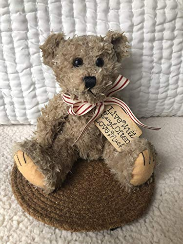 Scented Teddy Bear Air Freshener Wax Dipped Valentine Live Love Laugh Tag Custom Scent Choice (Wax Dipped Bears)