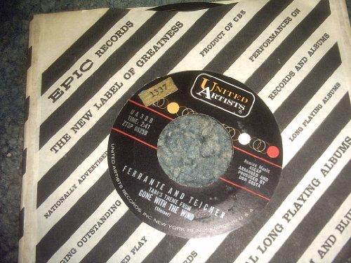 (ONE Eyed Jacks-tara's Theme 45 Rpm Record)