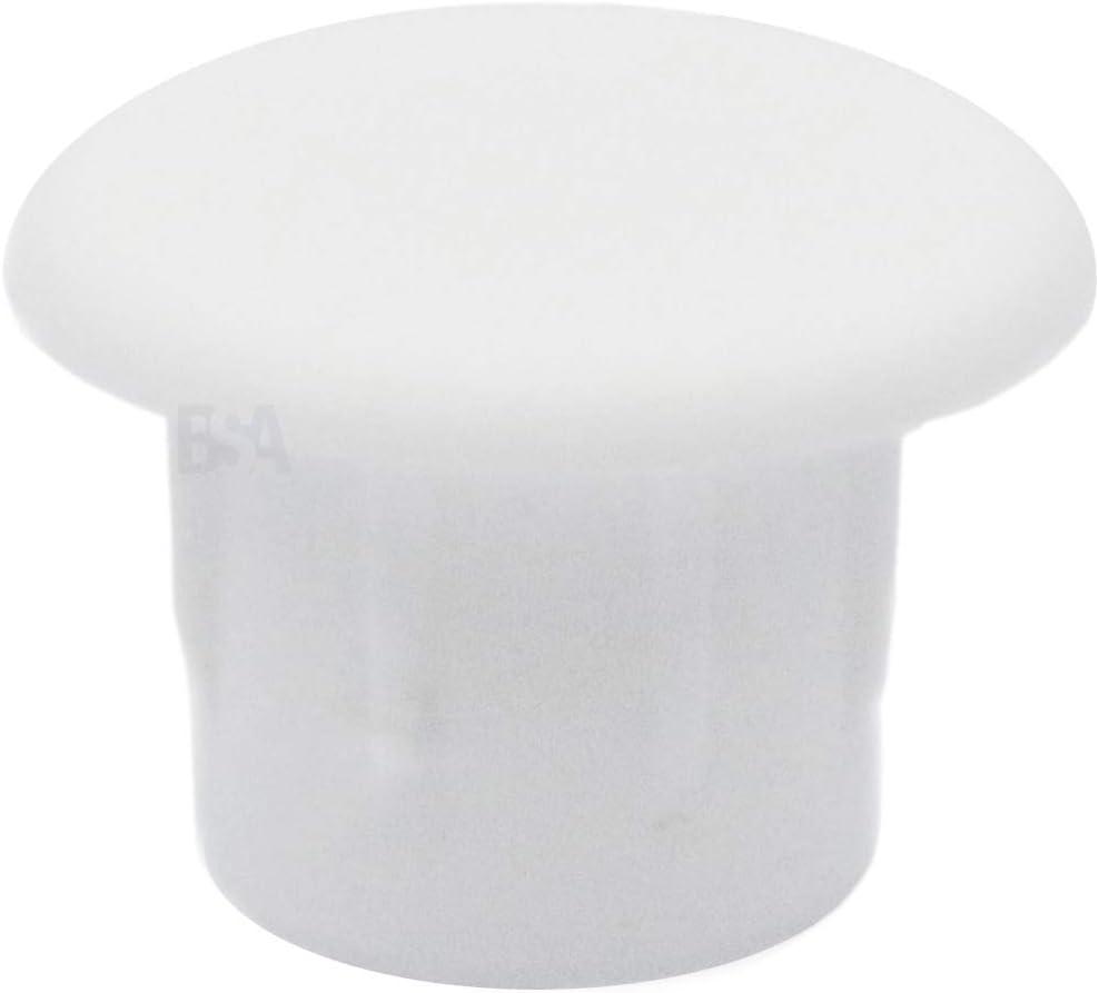 IROX MTP060510BI Lot de 100 bouchons cache-trou 6 mm en plastique blanc pour meubles 6 mm
