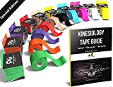 Kinesiology Tape (2 Pack or 1 Pack) Physix Gear Sport, 5cm x 5m Roll Uncut, Best Waterproof Muscle Support Adhesive, Physio Therapeutic Aid, Free 82pg E-Guide - BLACK 1 PACK