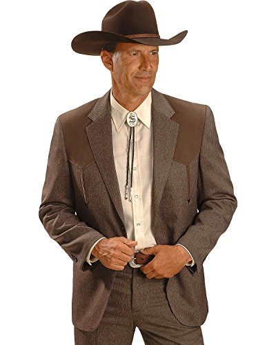 (Circle S Men's Boise Western Suit Coat Big And Tall Chestnut 52 R)