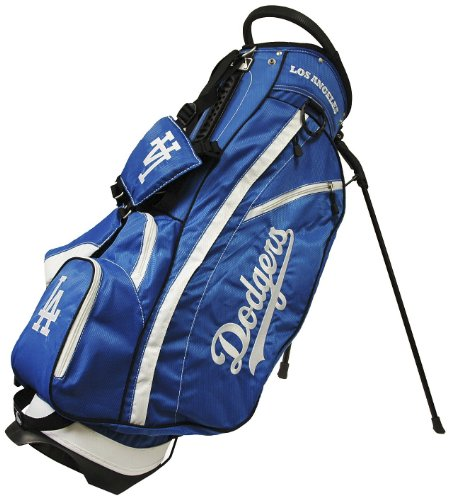 Team Golf MLB Los Angeles Dodgers Fairway Golf Stand Bag, Lightweight, 14-way Top, Spring Action Stand, Insulated Cooler Pocket, Padded Strap, Umbrella Holder & Removable Rain Hood