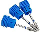 KADS Professional Nail Drill Ceramic Flame Bit For Nail Electric Drilling Machine Accessory Tool (Blue 2)