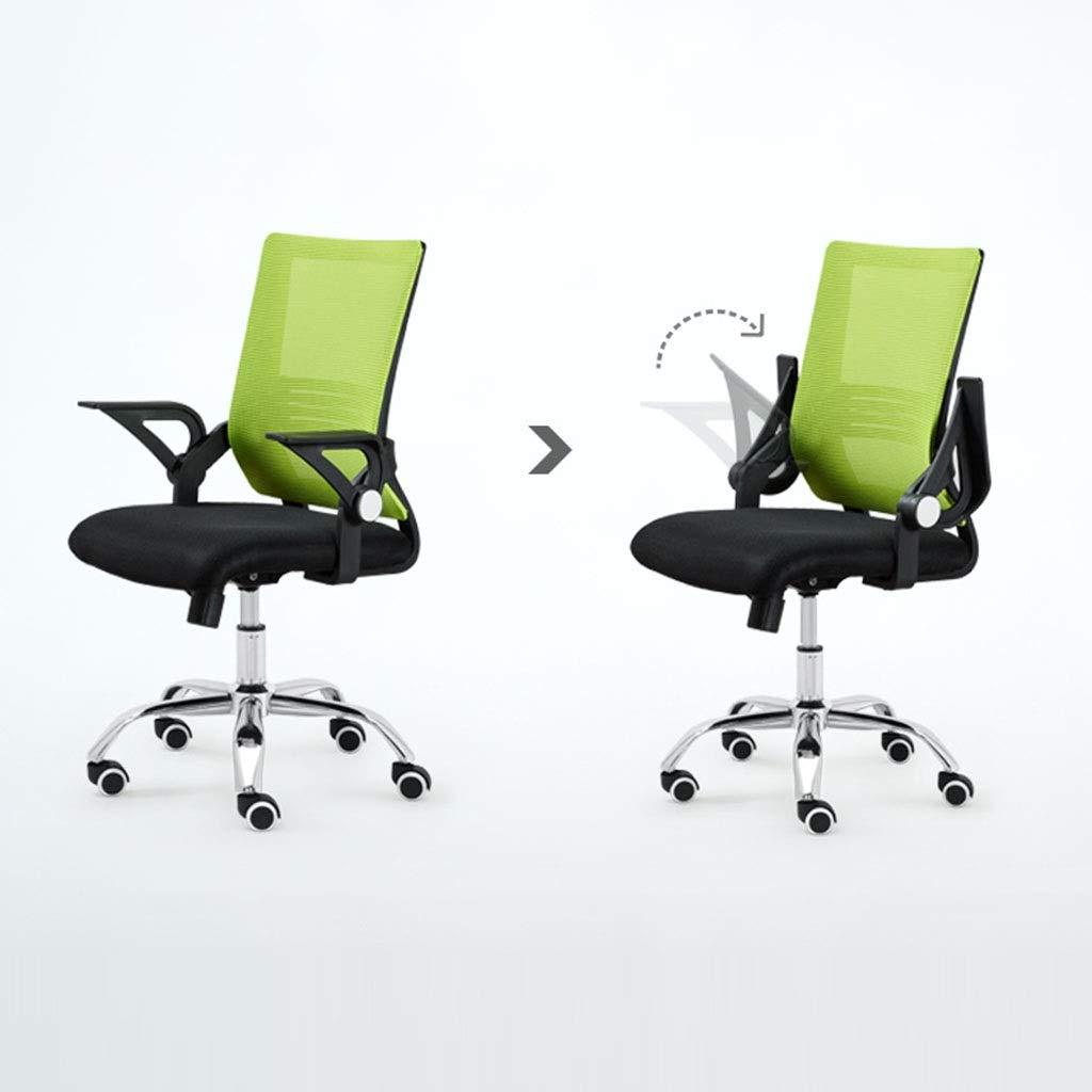 Zhou-WD personalstol, datorbord och stol kontorsstol konferensstol mottagningsstol studentstol sovsal stol spelstol kontor möbler (färg: Röd) Röd