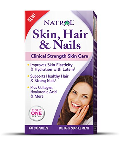 Natrol Skin and Hair Nails with Lutein Capsules, 6…