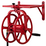 Liberty Garden Products 713 Revolution Multi-Directional Garden Hose Reel Holds 150-Feet of 58-Inch Hose - Red