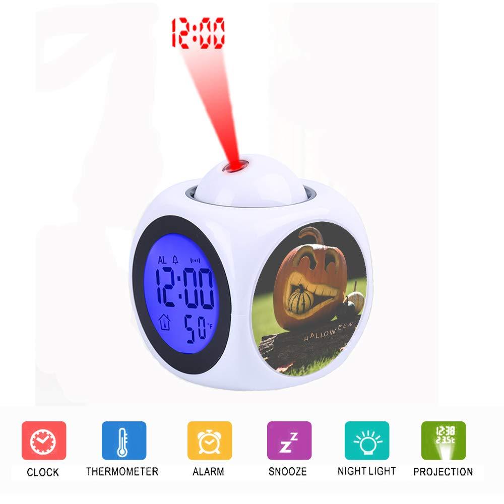 FDC - Reloj Despertador con proyector y Pantalla LCD Digital LED ...
