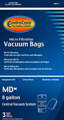 Amazon.com - EnviroCare Replacement Vacuum Bags for Modern Day 8 Gallon Central Vacuums 3 Pack -