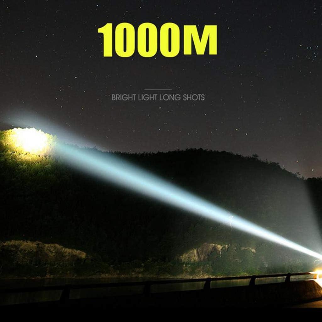 HWHS219 LED Camping Lumi/ère Rechargeable 8000LM Spotlight Lanterne Ext/érieure Lampe de Poche /Étanche Projecteur pour Randonn/ée De P/êche durgence