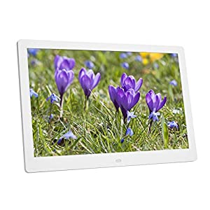 14inch Digital Photo Frame, HD Album Electronic with Wide Screen Built-in Clock/Calendar Support U Disk/Memory Card for…