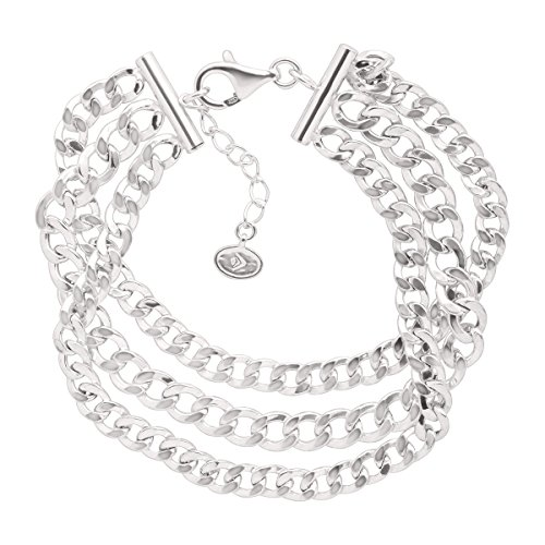 "Silpada 'Palermo' Sterling Silver Chain Bracelet, 7+1"" Extender"