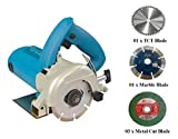 DIY Engineers Heavy Duty 4 Inch Marble/Wood/Iron Cutter Machine with 5 Free Wheels - Professional Series