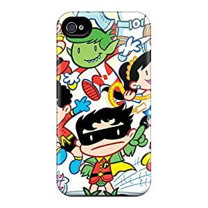 For Iphone 4/4s Premium Tpu Case Cover Tiny Titans Protective Case
