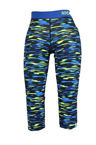 NIKE Damen Fitness Tight Sporthose Hose Fitnesshose DRI FIT Blau S