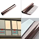 HOHO High Reflective Window Film Bronze Silver One Way Mirror Heat Control UV Proof Privacy Glass Stickers,1mx30m