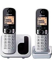 "Panasonic KX-TGC212 - Kit de 2 Teléfonos Fijos Inalámbricos Digitales, LCD 1.6"", Gris y Negro"