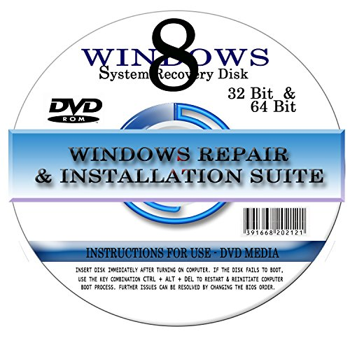 BOOT DISK for RESTORE & RECOVERY for WINDOWS EIGHT 64 bit by DirectSystems