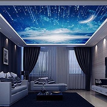 Aolomp Wallpaper Ein Großes Wandbild Tapete Dach Decke Wandbild Tapete  Wohnzimmer Schlafzimmer Himmel Decke Tapeten Wandmalereien