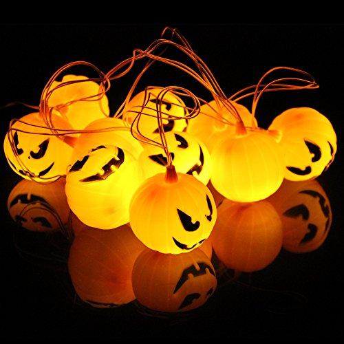Autbye Halloween Jack-O-Lantern Pumpkin String Lights 10 LED