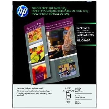 Amazon Com 65lb Bright White Tri Fold Brochure Paper