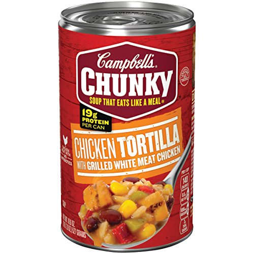 Campbell's Chunky Tortilla Soup with Grilled White Meat Chicken, 18.6 oz. Can (Pack of 12) (Mexican Tortilla Chicken Soup)