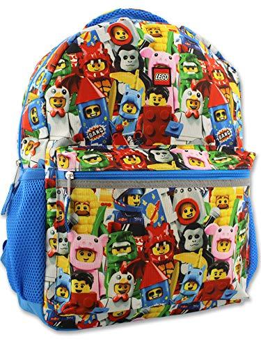 Lego Minifigures Boy's Girl's 16 Inch School Backpack (One Size, Lego Minifigures)