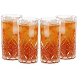 Lily's Home Unbreakable Acrylic Double Old Fashioned Hi-Ball Whiskey Tumblers, Premium Glasses are Shatterproof and Ideal for Indoor or Outdoor Use, Reusable, Crystal Clear (18 oz. Each, Set of 4) For Sale