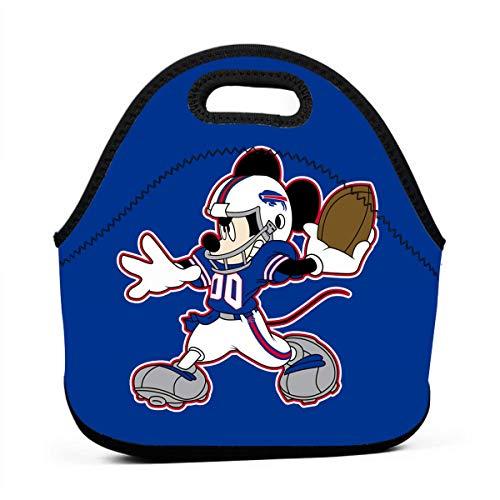 Dalean Buffalo Bills Cartoon Neoprene Lunch Bag, Bento Bag, Food Container, School Work Office