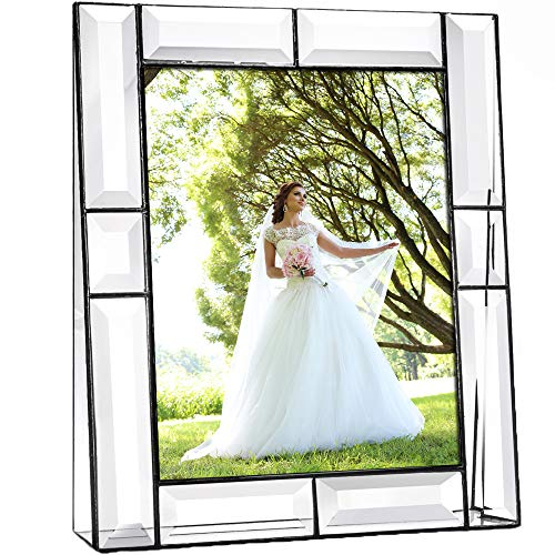 J Devlin Pic 112-81V Crystal Glass Picture Frame Tabletop 8x10 Vertical Photo ()