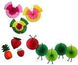 Deluxe Spring Classroom Honeycomb Decoration Set - Caterpillar, Fruit, and Butterflies