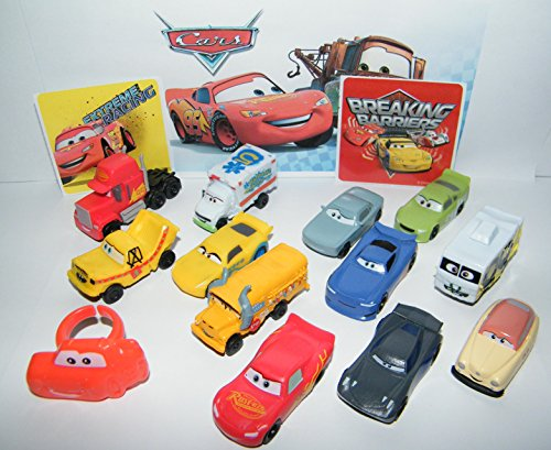 - Disney Cars Movie Deluxe Party Favors Goody Bag Fillers Set of 14 with 12 Plastic Cars, a Sticker Sheet, ToyRing Featuring McQueen, Jackson Storm, ARVY and More!