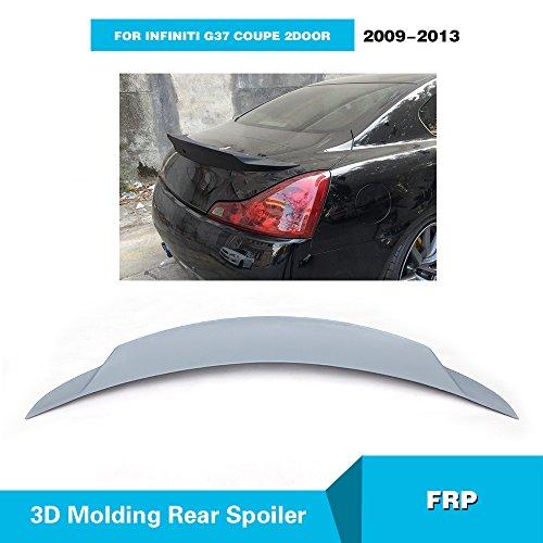 For Infiniti G37 Coupe 2Door 2009-2013 MCARCAR KIT Rear Trunk Spoiler Wing Lip Body Kit (Fiberglass, Gray)