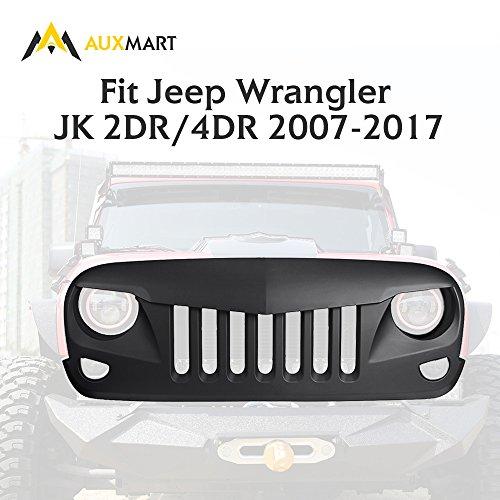 AUXMART Eagle Eye Front Hood Grille Fit 2007-2017 Jeep Wrangler JK (4dr Front Hood Grille)
