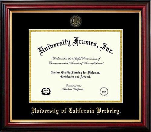 - Laminated Visuals Univ. of California Berkeley Golden Bears - Embossed Seal - Mahogany Gold Trim - Diploma Frame