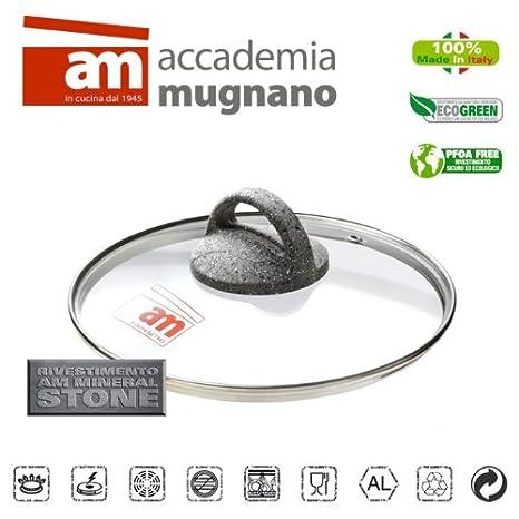 Accademia Mugnano Coraz/ón Cubierta de Cristal Modelo Piedra Di/ámetro 16 cm CPCPV16