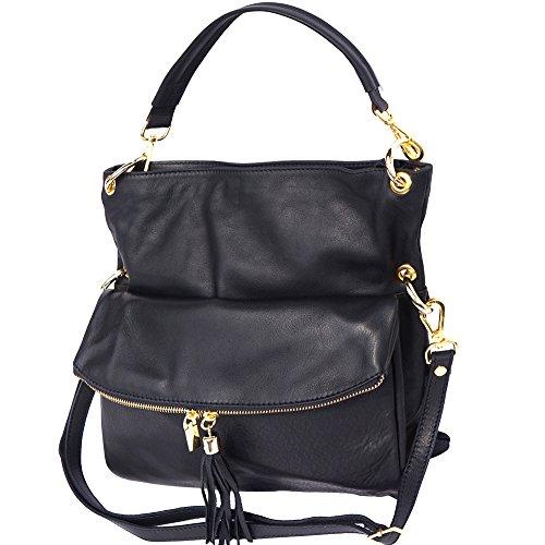 Hobo Bag With Long Strap Black 3117