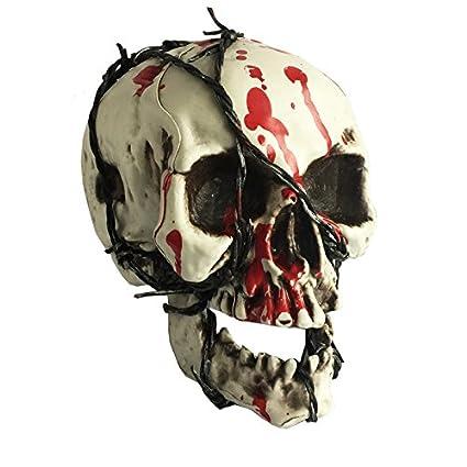 halloween bloody broken teeth skull 100 plastic life size skull for halloween props