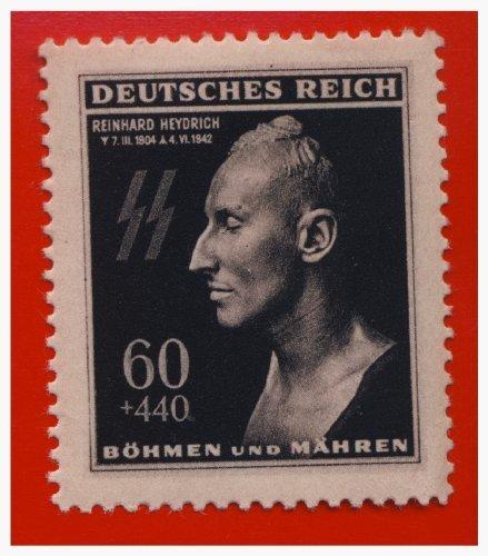 German WWII Nazi MNH Stamp SS Heydrich Death Mask Mnh Pristine Bright - Mnh Stamp Coin