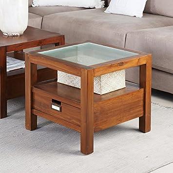 tout neuf fcfa2 64b73 Bali Table Basse/d'angle Cristal 50X50 - Bois - 50x50x45 cm ...