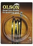 "Olson 23193 Band Saw Blade 93-1/2"" x 1/2"" x .025"" Thick w/ 3 TPI"