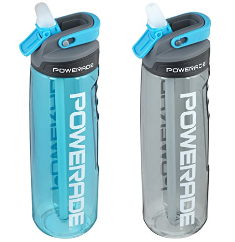 Powerade Sip Water Bottle 28 oz 2 pack blue / black