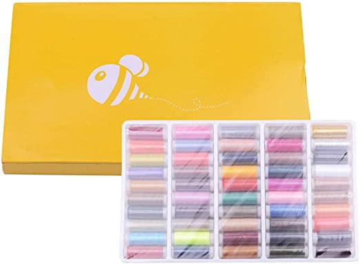 Hanxin 50 Colores Costura Manual Kit Hilo de Bordado máquina de Coser Hilos de poliéster para Costura a Mano Stitching Cord: Amazon.es: Hogar